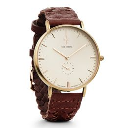 Αντρικό ρολόι Nick Cabana Talisman Brown leather strap NC109 NC109 Ατσάλι