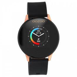 Smartwatch OOZOO Black Rubber Strap Rose gold Q00114 Q00114