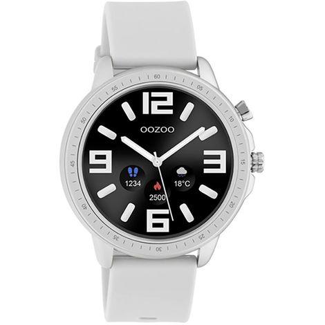 Ρολόι OOZOO Smartwatch Silver White Rubber Strap Q00311 Q00311
