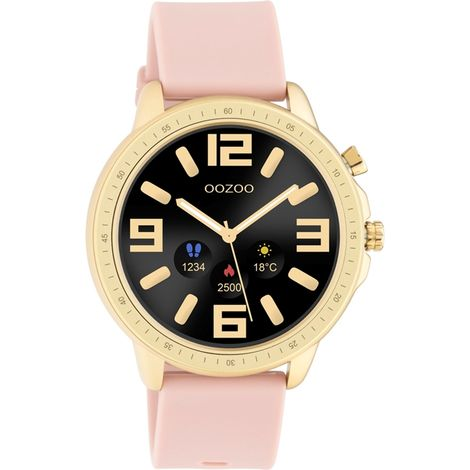 Smartwatch OOZOO Gold Pink Rubber Strap Q00318 Q00318