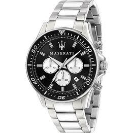 Maserati Sfida Chronograph Silver Stainless Steel Bracelet Chronograph R8873640004 R8873640004 Ατσάλι