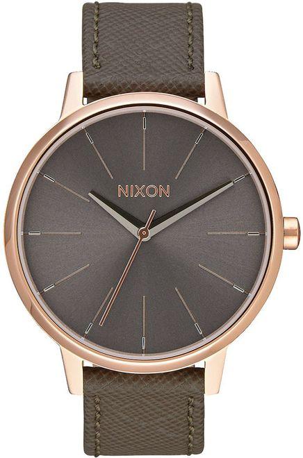 Ρολόι γυναικείο Nixon Kensington Brown Leather Strap A108-2214-00 A108-2214-00 Ατσάλι