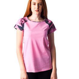 1118 Γυναικειο Tshirt Raglan PACO (ss18) ΡΟΖ