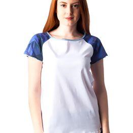 1118 Γυναικειο Tshirt Raglan PACO (ss18) ΑΣΠΡΟ