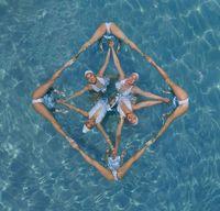 Australian photographer captures art of synchronized swimming