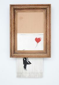 THE shredded Banksy commands $25.4M at London auction