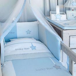 Σεντόνια Σετ 3τμχ Des. 309 Lucky Star Blue Baby Oliver Λίκνου 75x100cm