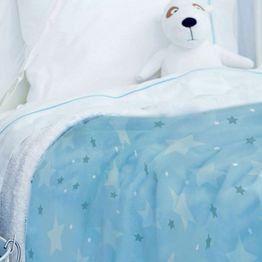 Κουβέρτα Βρεφική Fleece Sky Boy Blue Palamaiki Κούνιας 110x140cm