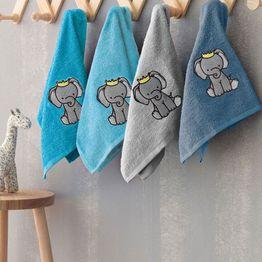 Πετσέτες Βρεφικές Σετ Elephant 4τμχ Palamaiki Σετ Πετσέτες