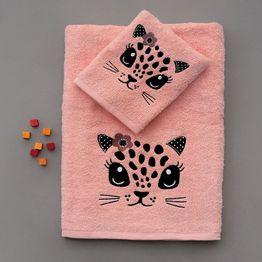 Πετσέτες Παιδικές Σετ 2τμχ Foxy Pink Palamaiki Σετ Πετσέτες