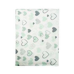 Πάνα Βρεφική Hearts 10 Green DimCol 80x80cm