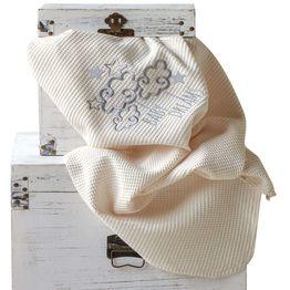 Βρεφική Κουβέρτα Baby Dream Ecru Kentia Αγκαλιάς 70x100cm