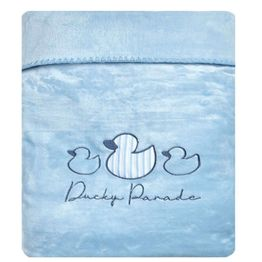 Κουβέρτα Βρεφική Κούνιας Ducky Velour Fleece Light Blue Kentia Κούνιας 110x140cm