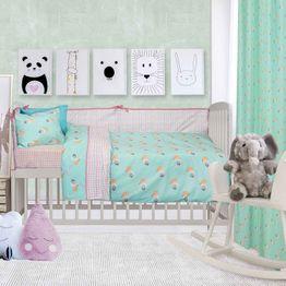 Πάντα Κούνιας 6451 Baby Fun Somon-Green Das Baby 45x195cm