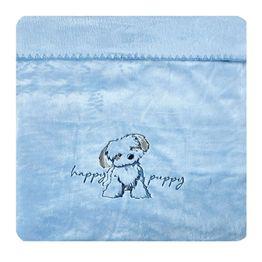Κουβέρτα Βρεφική Κούνιας Terrie Velour Fleece Baby Blue Kentia Κούνιας 110x140cm