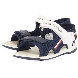 Tommy Hilfiger - Tommy Hilfiger Velcro Sandal T3B2-30395-0329-X007-A - μπλε/λευκο