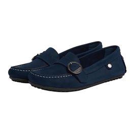 Barbour γυναικεία loafers με μεταλλική αγκράφα Sabine - LFO0290 - Μπλε Σκούρο