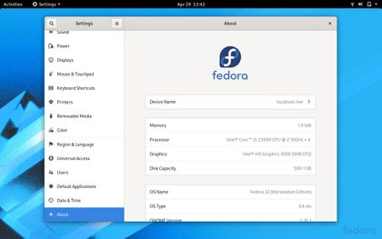 Fedora 32 released with GNOME 3.36, see the screenshots