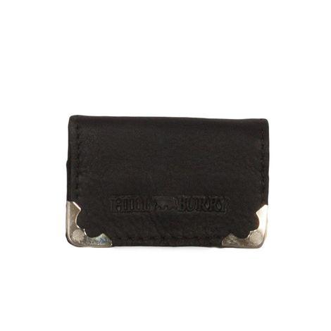 Hill Burry ανδρικό δερμάτινο πορτοφόλι κερμάτων μαύρο - v88878-5130-blk