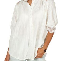 Artlove Μάο πουκάμισο με puff μανίκια και δαντέλα - al-38121