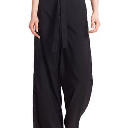 Migle + me παντελόνα μαύρη - la-trs15-blk