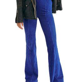 Free People slim pull-on βελούδινο παντελόνι καμπάνα - ob1010177