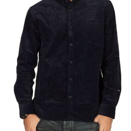 Anerkjendt Akkonrad κοτλέ πουκάμισο σκούρο μπλε - 9519021-3038
