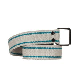 Ζώνη ιμάντας ανοιχτό γκρι με γαλάζια ρίγα - 5056-gr