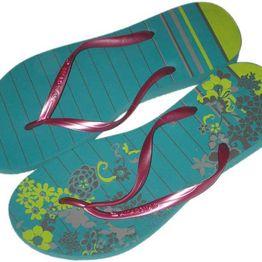 Amazonas Enjoy ριγέ φλοράλ γυναικείες σαγιονάρες - 35196/100