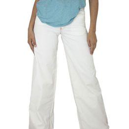 Killah γυναικείο ψηλόμεσο παντελόνι καμπάνα λευκό - jh66-1131