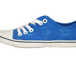 Paul Frank γυναικεία χαμηλά sneakers Julius head σε μπλε - pfw-9201-bl
