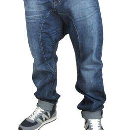 Humor Santiago jeans σκούρο μπλε με ξέβαμα - 8115517