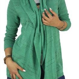 Agel Knitwear ζακέτα πράσινη με αζούρ πλέξη - s16621-gn