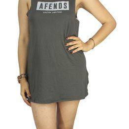 Afends αμάνικο μίνι φόρεμα Future distress black - 51-03-092