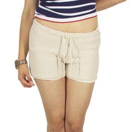 Agel Knitwear πλεκτό σορτσάκι μπεζ - s16644-bei