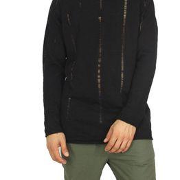 Anerkjendt πλεκτή μπλούζα Klonk μαύρη - 9216227