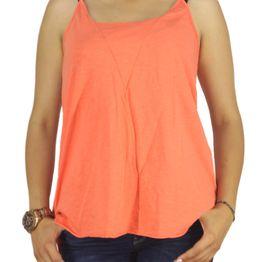 21 degrees τιραντέ μπλούζα πορτοκαλί με αθλητική πλάτη - 18447-or