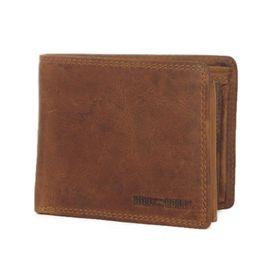 Hill Burry ανδρικό δερμάτινο πορτοφόλι καφέ - v88803-6404-br