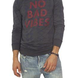 Best choice No bad vibes μακρυμάνικη μπλούζα σκούρο λαδί - w17093-bad-ol