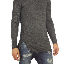 Anerkjendt ανδρική μακρυμάνικη μπλούζα Chiko μαύρο μελανζέ - 9416312