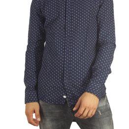 Anerkjendt Gento ανδρικό μάο πουκάμισο μπλε σκούρο - 9416026