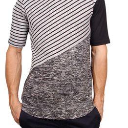3PLAY longline t-shirt με ριγέ πάνελ - 3pl-a631