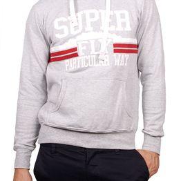 3PLAY φούτερ μπλούζα γκρι μελανζέ με κουκούλα - 3pl-a615-gr