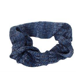 Πλεκτός λαιμός μπλε μελανζέ - 17001-bl
