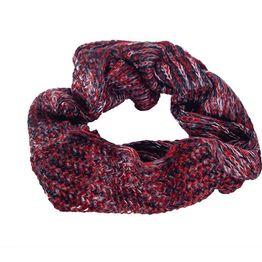 Πλεκτός λαιμός μπορντό-κόκκινο μελανζέ - 17001-bor