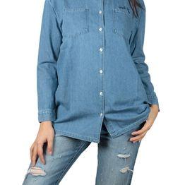 Daisy Street denim πουκάμισο με κέντημα - nbt182