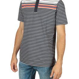 Anerkjendt Mads πόλο μπλούζα ριγέ σκούρο μπλε - 9217309-bl