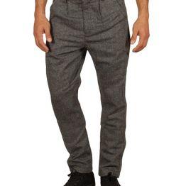 Anerkjendt Gibby παντελόνι μαύρο μελανζέ - 9517606