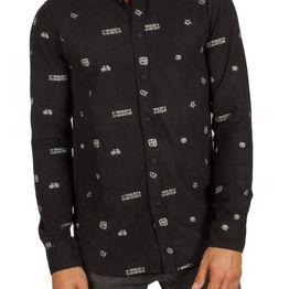 Anerkjendt Konrad πουκάμισο μαύρο με κέντημα - 9517042