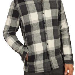 Anerkjendt Chaplin πουκάμισο καρό εκρού-μαύρο - 9517005